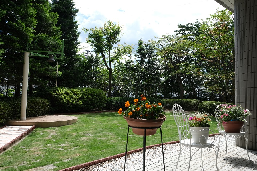 一関のレストラン テラスロンドの庭の風景写真
