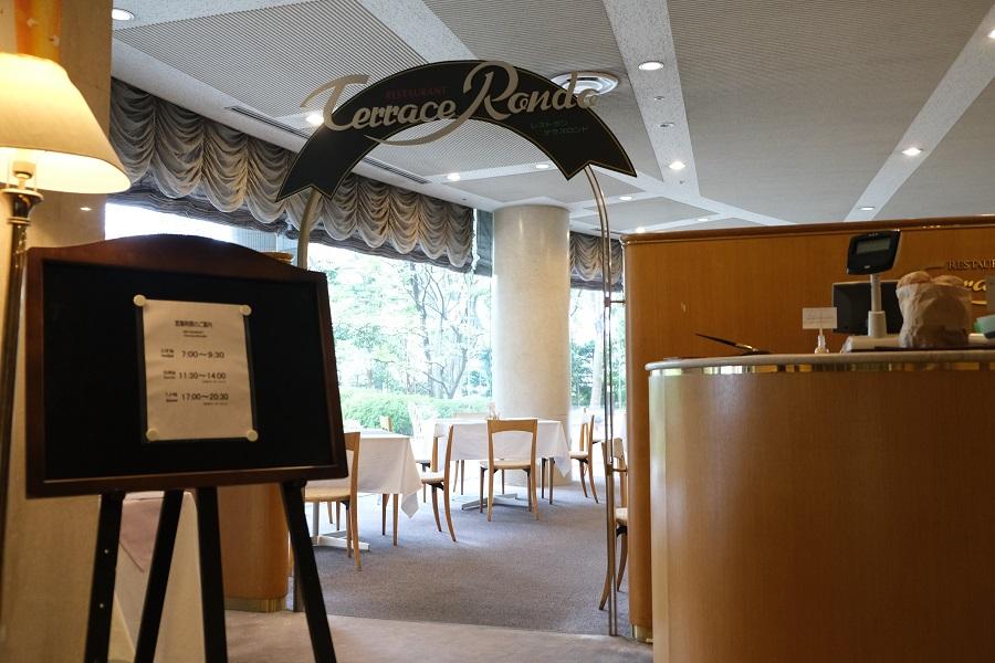 一関のレストラン テラスロンドの店内入口の風景写真